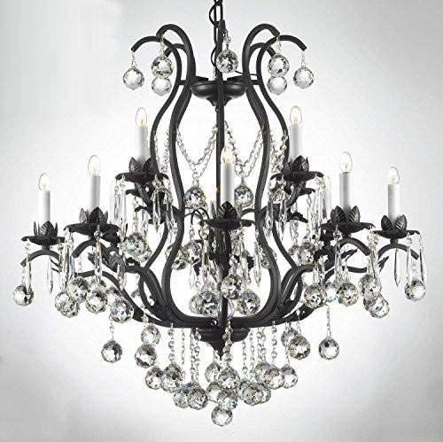 Chandelier Made with Swarovski Crystal Wrought Iron Crystal Chandelier Chandeliers Lighting Dressed W Crystal Balls