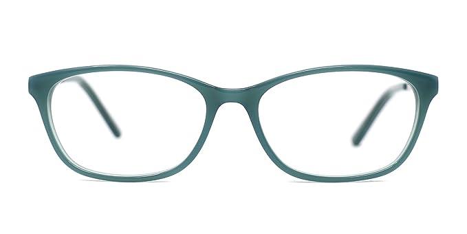 013357eaf1 TIJN Women Acetate Subtle Cat Eye Thin Non-prescription Eyeglasses Clear  Lens at Amazon Women s Clothing store