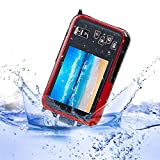 KOBWA 24MP Underwater HD Digital Camera, FULL HD 1080P Waterproof Camera with Zoom Lens and Dual Screen for Self-timer(Red)