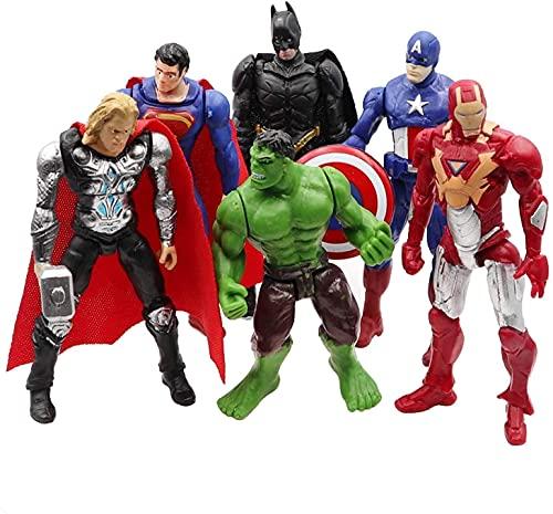 Superhero Action Figure 6Pcs Set PVC Toys Hero Cake Topper Decorations...