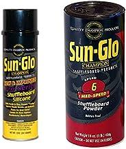 Sun-Glo Silicone Shuffleboard Spray (12 oz.) & #6 Speed Shuffleboard Powder Wax (16 oz.) C