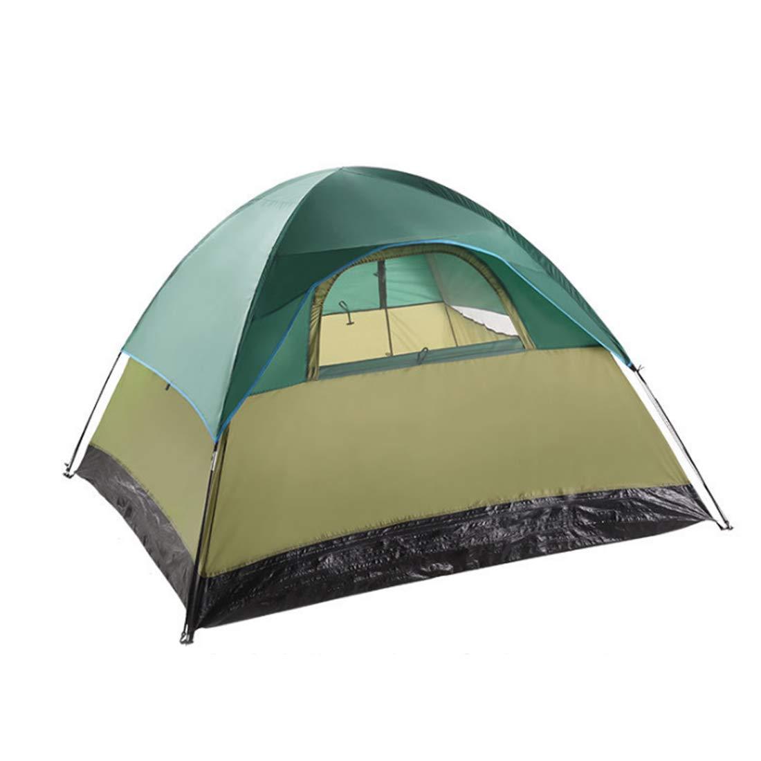Klerokoh Outdoor Camping für 4 Personen und 3 Personen Zelt (Farbe : Grün)