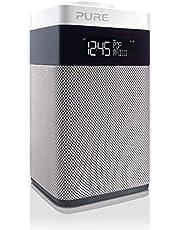 Pure POP Midi digitale radio (DAB/DAB+ digitale en FM-radio, pop-knop voor volumeregeling, alarmfuncties, keuken- en slaaptimer, 20 zendergeheugenplaatsen, AUX), wit