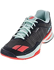 Babolat Womens Jet Team All Court Tennis Shoe, Grey/Red/Blue