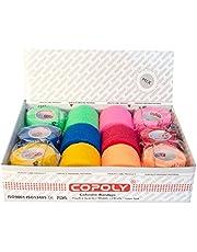 12rotoli di bende adesive elastiche per fasciature e per uso veterinario, di qualità superiore, disponibili in varie misure e colori
