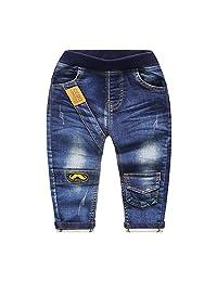 Kidscool Baby Girls Elastic Waist Classic Five Pockets Denim Pants Jeans