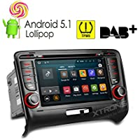 XTRONS 7 Inch Quad Core Android 5.1 Car Stereo Radio DVD Player GPS Multi-touch Screen Mirroring OBD2 Built-in DAB+ Tuner Tire Pressure Monitoring for AUDI TT MK2