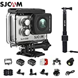SJCAM SJ7 Star Kit SJ7 Camera with Accessories, SJCAM Waterproof Control Real 4K Action Camera Wifi Waterproof Underwater Camera Ambarella Chipset 30FPS/Sony Sensor 12MP Gyro Stabilization-Silver