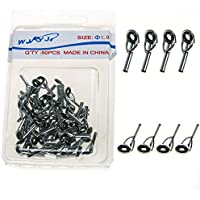 50 Pcs Fishing Rod Guide Guides Tip Tops Replacement...