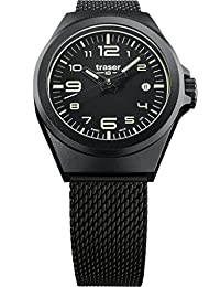 traser P59 Essential S Black Milanese PVD Stainless Steel Band Unisex Watch 108204