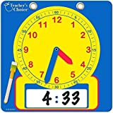 """Teacher's Choice Writable Dry Erase Learning Clock 