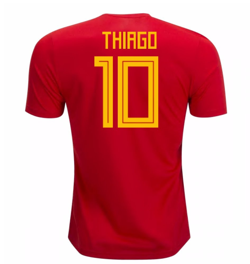 2018-19 Spain Home Football Soccer T-Shirt Trikot (Thiago Alcantara 10) - Kids