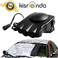 12V Portable Car Heater Cooling Fan 3-outlet Car Window Defroster Defogger Demister