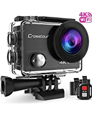 Crosstour Projector HD Video Projector 1080P Supported for Home Theater Entertainment 55,000 Hours LED Life Compatible with HDMI/VGA/TF/AV/USB (Upgrade)