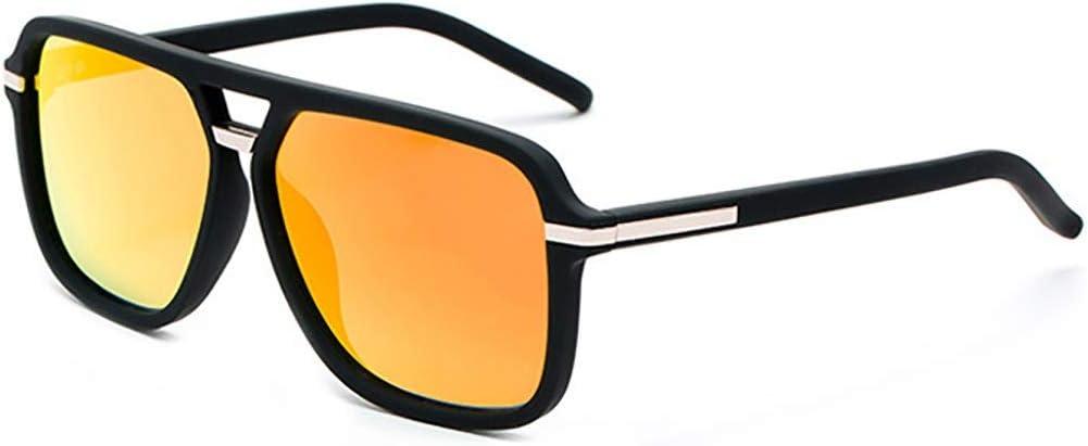 サングラスメンズボックス偏光サングラスファッションカラフルなメガネ運転メガネ (Color : 黄) 黄