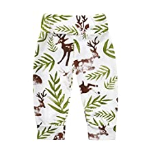 Baby Boys Girls Christmas Deers Pattern Harem Pants Kids Long Pants