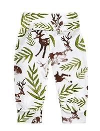 Baby Boys Girls Christmas Deers Pattern Harem Pants Kids Long Pants