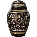Memorial Brass Keepsake Urn for Ashes - Westminster Black Keepsake Creamtion Urn by Cremation Urns