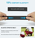 Elastic Stretch Golf Belt, 2 Pack Nylon Ratchet