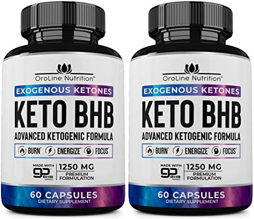 Keto Pills – [2 Pack   120 Capsules] Advanced Keto Burn Diet Pills – Best Exogenous Ketones BHB Supplement   Keto BHB Diet Pills for Women and Men – Max Strength Boost