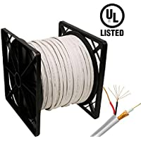 HDView 500ft UL Listed Certified, 95% Copper Braid, Siamese Coaxial RG59 Cable Wire for CCTV HD (TVI/AHD/CVI/Analog) Security Camera, Combo Video & Power, Best Quality, Pull Out Box