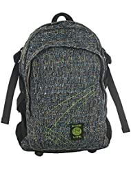 Original Hemp Backpack - Knapsack w/Smell Proof Pouch & Secret Pocket