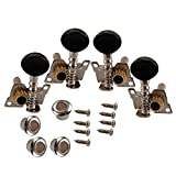 Grey Tuning Peg Key Machine Head Tuners for Ukulele 4 String Guitar Concave Button 2R2L