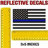 Classic Biker Gear Reflective Thin Blue Line Decal