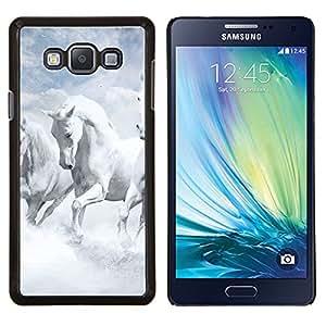YiPhone /// Prima de resorte delgada de la cubierta del caso de Shell Armor - White Horses Cielo Naturaleza Nubes Dios - Samsung Galaxy A7 A7000