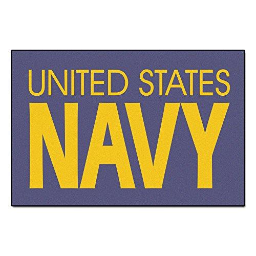 Rugs Starter Military Fanmats (Fanmats Military  'Navy' Nylon Face Starter Rug)