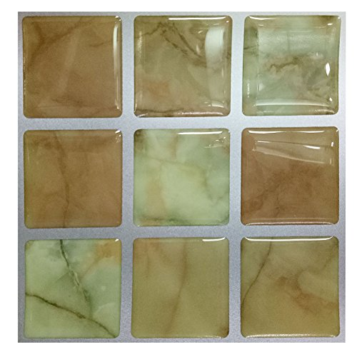 Remarkable 4X4 Inch 10 Sheets Peel and Stick Wall Tiles Vinyl