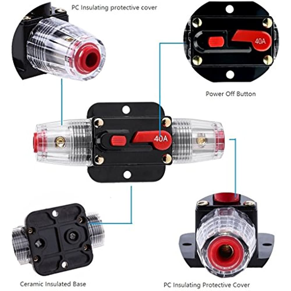 Car Audio 100 Amp Resettable Fuse Circuit Breaker Protect System 12