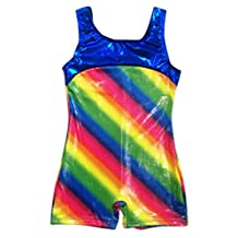 Happy Cherry Girls Athletic Leotard Rainbow Gymmastics Ballet Training Outfit Leotards