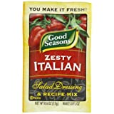 Good Seasons Salad Dressing & Recipe Mix, Zesty Italian.6-Ounce Packets (Pack of 24)