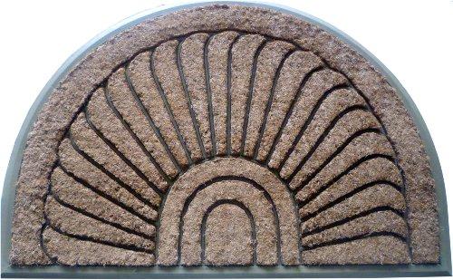 Geo Crafts G237 Sundance 30 by 48-Inch Coco Rubber Doormat, Beige - Geo Door Mat