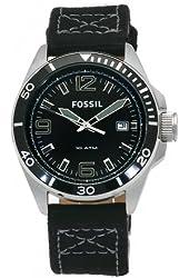 Fossil Men's AM4322 Decker Nylon Strap Black Dial Watch