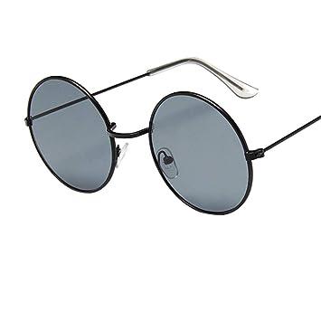 DaoRier Retro Oval Gafas de Sol Mujer Redondas Transparentes ...