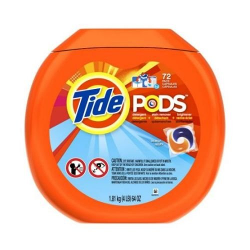 Tide Pods Ocean Mist Scent Laundry Detergent Liquid, 72 count per pack -- 4 per case. by Tide