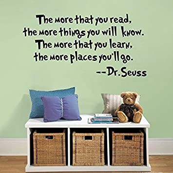 Quote It!   The More That You Read The More Things You Will Know Dr