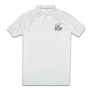 Hombre Rendimiento Golf Polo camisas Robot pulpo Star Print Polo T ...