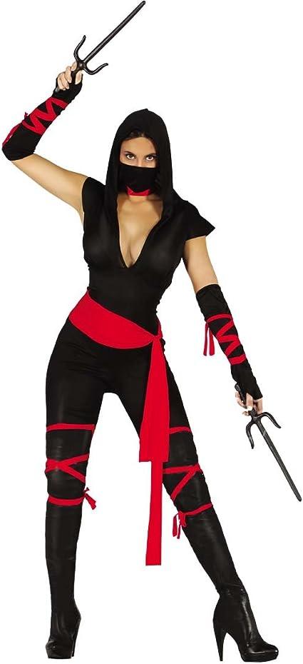Kämpferin Kostüm Damen Karneval Ninja