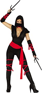 Amakando Traje Samurai Disfraz Ninja Mujer M 38/40 Vestimenta ...