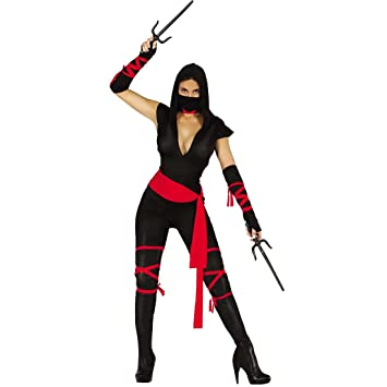 27435b1525cedc NET TOYS Costume de Ninja pour Femme Déguisement de Samurai Femmes S 38 40  Tenue