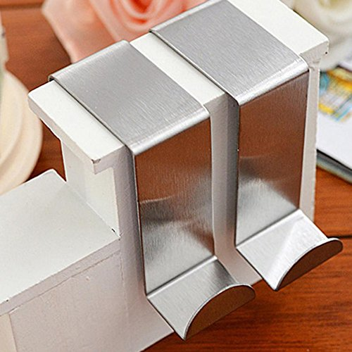 LILACORP Hooks 2PC Door Hook Stainless Steel Kitchen Cabinet Clothes Home Storage Hanger Organizer