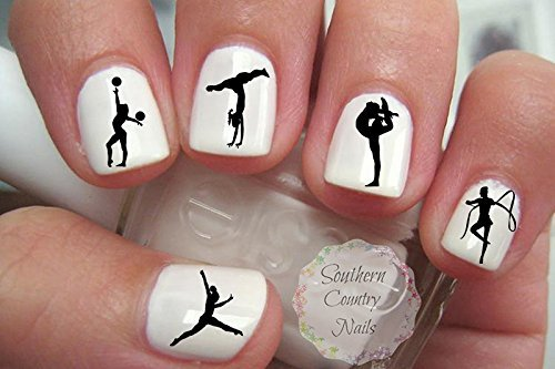 Image result for christmas gymnastics nails