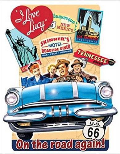 Love Lucy Metal (I Love Lucy - On the Road Again TV Tin Sign 13 x 16in)