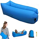 Inflatable Air Lounger Lazy Sofa with Carry Bag,Lounge Chair Portable Air Bed Sleeping Couch for Travelling, Camping, Beach,Park,Backyard,Pool,Picnics and Music Festivals