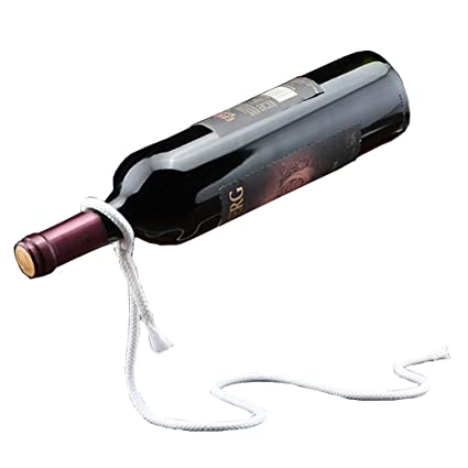 Amazoncom Creative Wine Rack Magical Rope Wine Holder Suspension