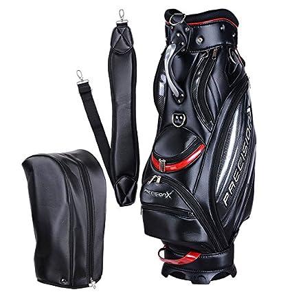 37b2c4aa4b6a Amazon.com   AMPERSAND SHOPS Travel Golf Club Stand Bag (Black-Red ...