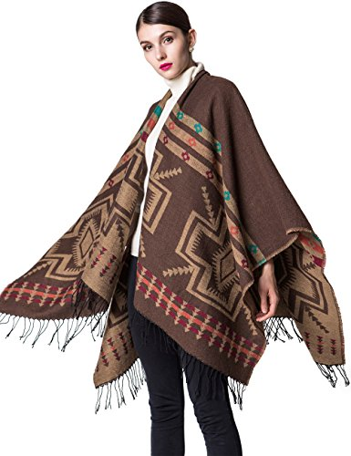 Women's Lightweight Cardigan Warm Sweater Blanket Open Front Pashmina Shawls and Wraps Sleeveless Cashmere Scarf Poncho Cape Coat 2xl Camel